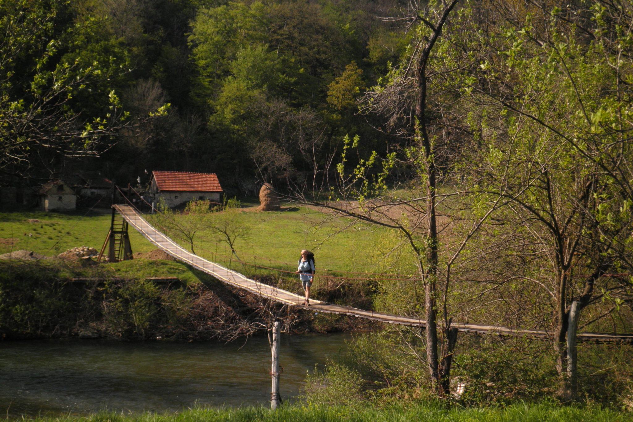 Kaňon řeky Nery v Rmunsku