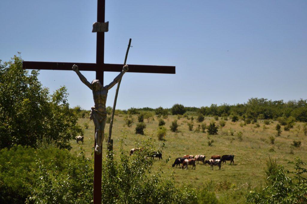 Kříž u pastviny