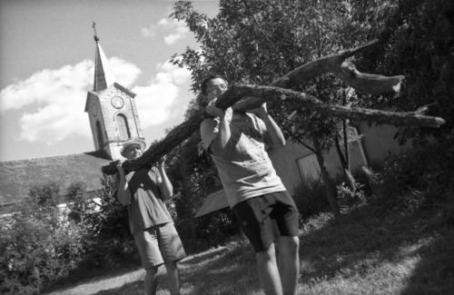 Kostel a úklid obecního hřiště