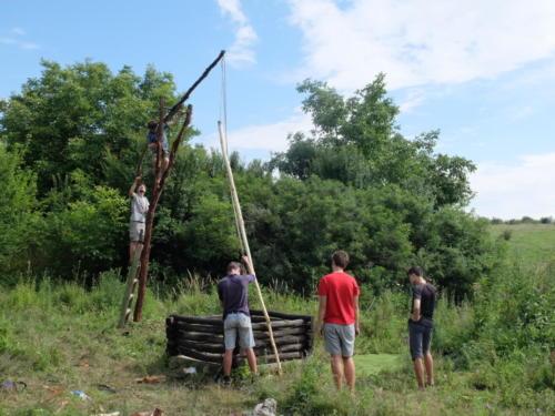 Péče o drobné památky - obnova vahadlových studní - symbolu Češka Sela